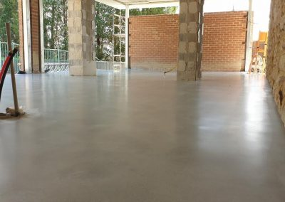 Honed finished floor