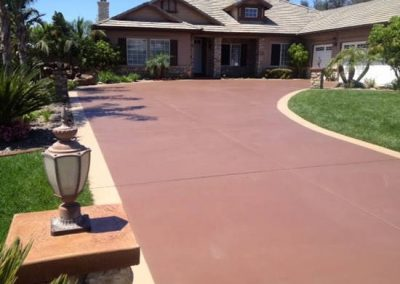 Stained concrete coating