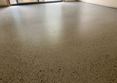 Honed and sealed concrete