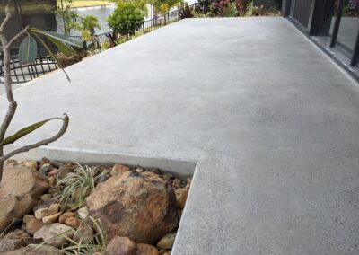 Natural finish honed and sealed concrete